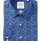 Ben Sherman Blue Floral Print Tailored Slim Fit Dress Shirt