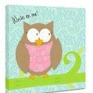 "Canvas Kudos ""Baby Owl"" Decorative Sign, 12 ""x 12"""