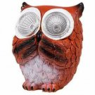 "Greenbrier Solar Owl Outdoor Garden Statue, Brown, 3.5"" x 3"" inches"