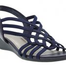 Impo Roma Stretch Wedge Sandal, Navy, 8 M US