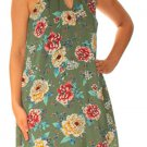 As U Wish Women's Printed Mock-Neck Shift Dress, Green, X-Small
