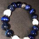 10mm Blue Tiger Eye Healing Stone Bracelet