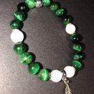 8mm Green Tiger Eye Healing Stone Bracelet