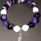 10mm Purple Sardonyx Healing Stone Bracelet
