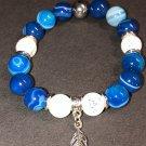 10mm Blue Sardonyx Healing Stone Bracelet