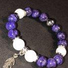 9mm Purple Charoite Healing Stone Bracelet
