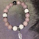 10mm Pink Polished Rose Quartz Healing Stone Bracelet