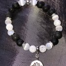 8mm White Cats Eye Healing Stone Diffuser Bracelet