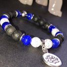 8mm Dark Blue Cats Eye Healing Stone Diffuser Bracelet