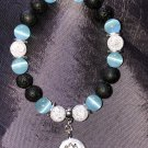 8mm Light Blue Cats Eye Healing Stone Diffuser Bracelet