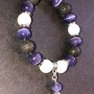10mm Purple Cats Eye Healing Stone Diffuser Bracelet