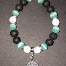 8mm Mint Green Cats Eye Healing Stone Diffuser Bracelet