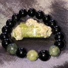 10mm Black & Green Tourmaline Healing Stone Bracelet