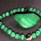 6mm Malachite/Tourmaline Healing Stone Bracelet