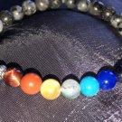 6mm Labradorite/Larvakite Chakra Diffuser Healing Stone Bracelet