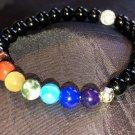 6mm Black Onyx Chakra Healing Stone Bracelet