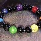 8mm Black Onyx Chakra Healing Stone Bracelet