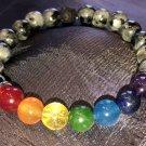 8mm Labradorite/Larvikite Chakra Healing Stone Bracelet