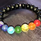 8mm Black Tibetan Onyx Chakra Healing Stone Bracelet