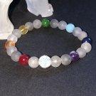 8mm Tourmalinated Quartz Chakra Healing Stone Bracelet