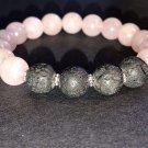 10mm Rose Quartz Healing Stone Diffuser Bracelet