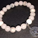 8mm Raw Rose Quartz & Raw Pink Zebra Jasper Healing Stone Bracelet
