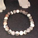 6mm Pink Zebra Jasper Healing Stone Bracelet