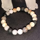 8mm Bamboo Agate Healing Stone Diffuser Bracelet