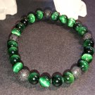 6mm Green Tiger Eye Healing Stone Diffuser Bracelet