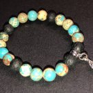 8mm Light Green Emperor Jasper Healing Stone Diffuser Bracelet