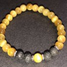 6mm Golden Tiger Eye Healing Stone Diffuser Bracelet