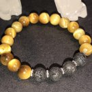 8mm Golden Tiger Eye Healing Stone Diffuser Bracelet