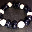 10mm Blue Goldstone Healing Stone Diffuser Bracelet