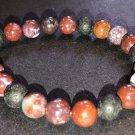 8mm Red Lightening Agate Healing Stone Diffuser Bracelet