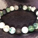 8mm Tree Agate Healing Stone Diffuser Bracelet