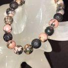 8mm Rhodonite Healing Stone Diffuser Bracelet