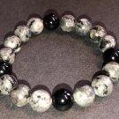 10mm Labradorite/Larvakite & Black Onyx Healing Stone Bracelet
