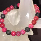 8mm Pink Crazy Lace Agate Healing Stone Diffuser Bracelet