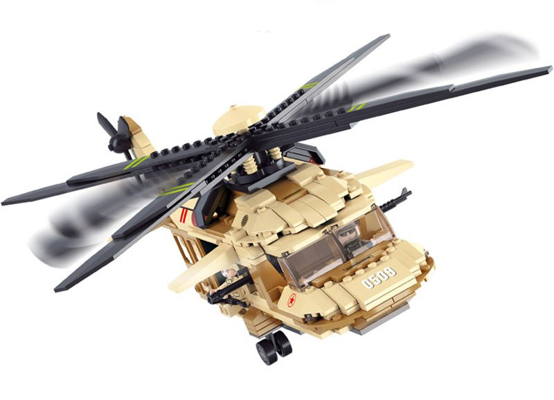 Military War lego Helicopter Army Airplane Building Blocks