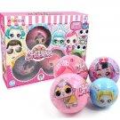 4pcs Balls Kids LOl Surprises! Toy Dolls with Box Puzzle