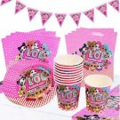 LOL Girls Birthday Party Decoration Surprise  Supplies Set