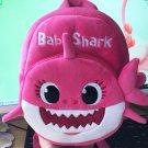 Baby Shark School Bag Kindergarten children (Message color )