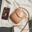 LEFTSIDE Women Mini Handbags Designer Ladies Leather (Message color)