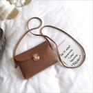 Simple Pure Women Mini Lock Flap Messenger Bag PU Leather ( Message Color)