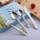 4 pieces Kids Cutlery Set Stainless Steel with box
