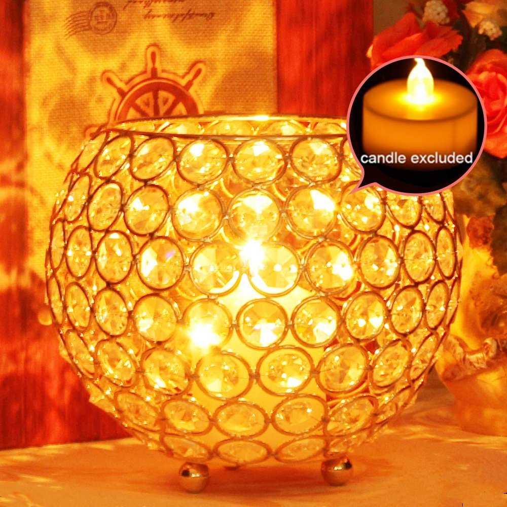 Metal Glass Candle Lantern Holders Moroccan Style 4,7 IN