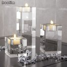 3Pcs Candle Holders Tealight Candlestick Wedding Decorations
