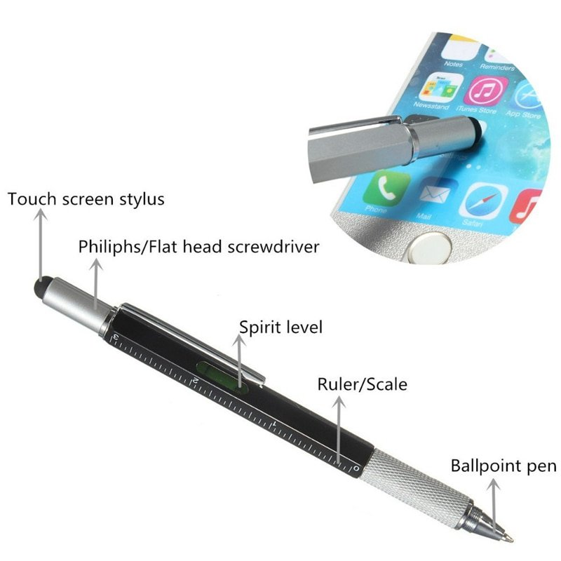 Multifunction Pen Tool Ballpoint  Screwdriver Ruler 6 in 1