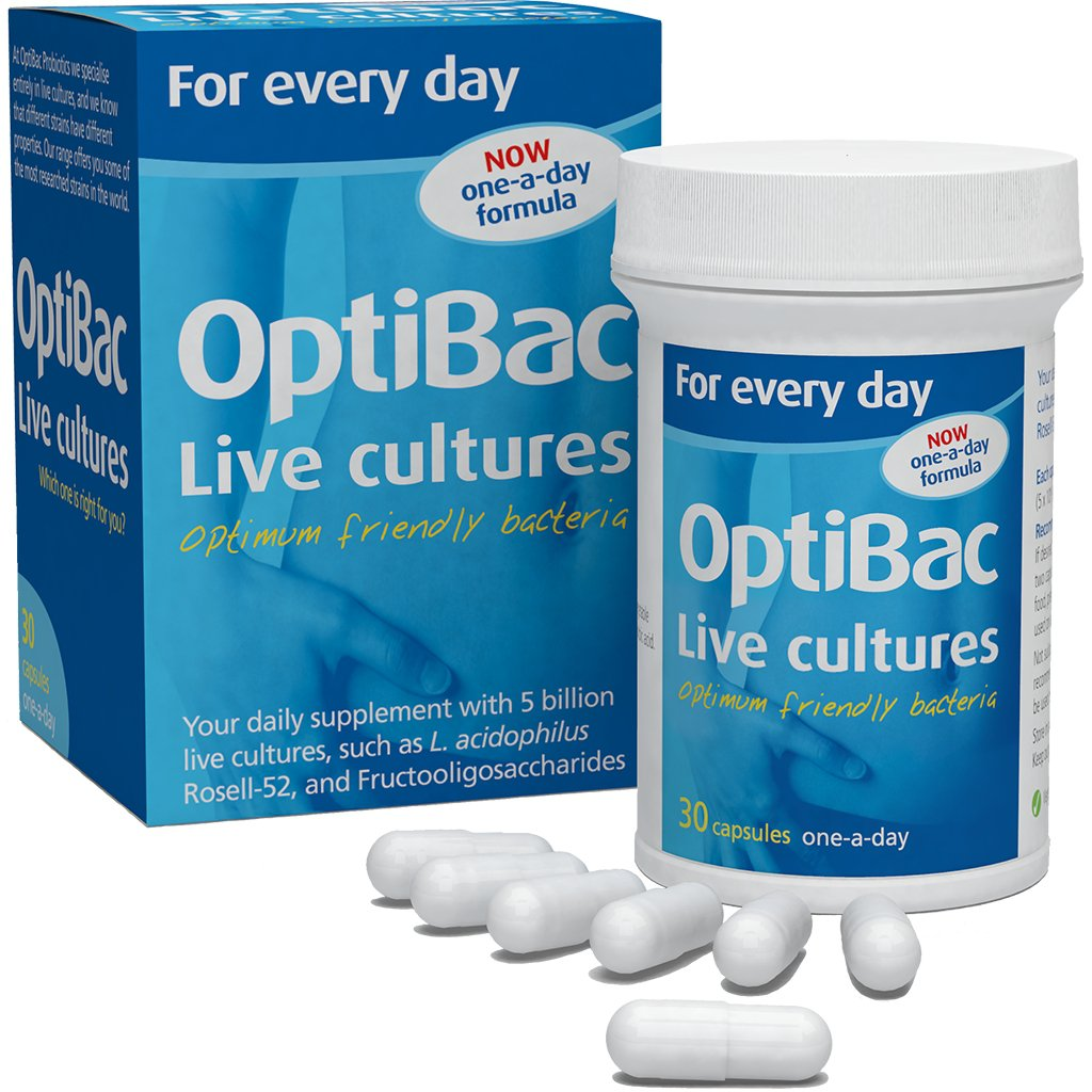 OptiBac Daily friendly bacteria supplement 'For every day'