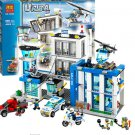 Lepin City Police Station Motorbike (Free Shipping ) Helicopter Model Building Blocks Toys
